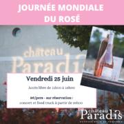 Photo événement festif pour du rosé